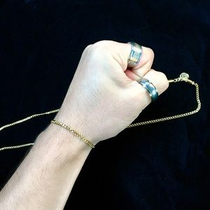 MICRO CUBAN LINK BRACELET 18K GOLD MADE IN ITALY